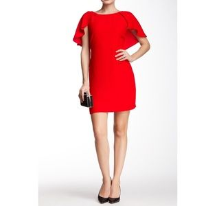 Jessica Simpson Solid Flutter Sleeve Dress